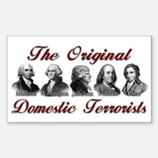 Original Domestic Terrorists Rectangle Decal