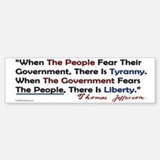 Fear the people sticker Bumper Bumper Bumper Sticker