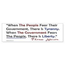 Fear the people sticker Bumper Bumper Sticker
