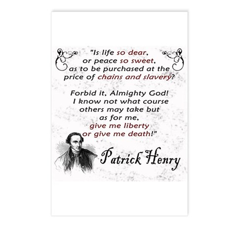 Liberty or Death Postcards (Package of 8)