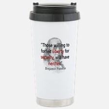 Benjamin Franklin Stainless Steel Travel Mug
