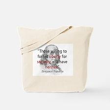 Benjamin Franklin Tote Bag