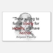 Benjamin Franklin Rectangle Decal