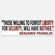 SECURITY LIBERTY Bumper Bumper Bumper Sticker