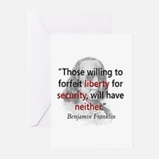Benjamin Franklin Greeting Cards (Pk of 10)