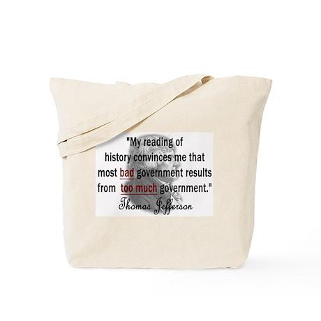 Thomas Jefferson Bad Governme Tote Bag