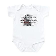 Thomas Jefferson Bad Governme Infant Bodysuit