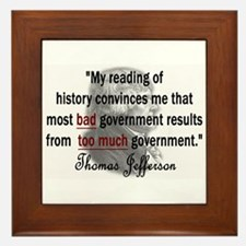 Thomas Jefferson Bad Governme Framed Tile