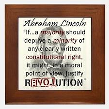 Abraham Lincoln Framed Tile