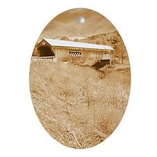 Bartonsville Covered Bridge Oval Ornament