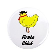 """Pirate Chick 3.5"""" Button (100 pack)"""