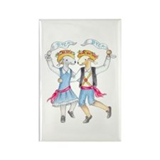 Dancing Bedlies-Folk Rectangle Magnet