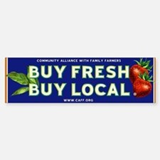 Buy Fresh Buy Local classic Bumper Bumper Stickers