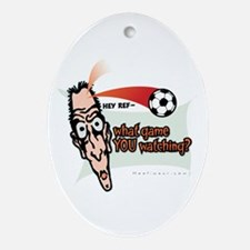 Hey Ref 2 Oval Ornament