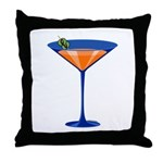 Gator Martini Throw Pillow