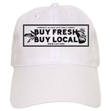 Buy Fresh Buy Local Black & W Baseball Cap