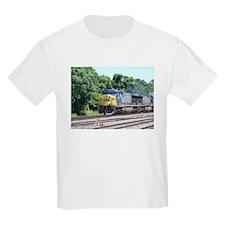 CSX Q190 Doublestack Train Kids T-Shirt