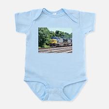 CSX Q190 Doublestack Train Infant Creeper