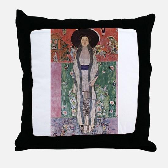 Adele Bloch-Bauer II Throw Pillow