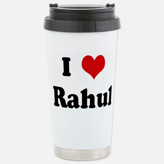 I Love Rahul Stainless Steel Travel Mug