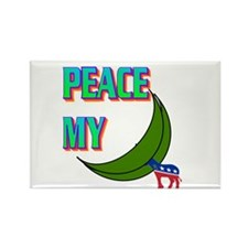 PEACE MY ASS! Rectangle Magnet (10 pack)