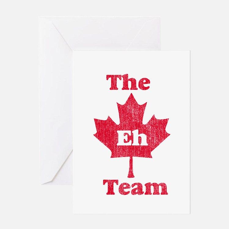 Vintage Team Eh Greeting Card