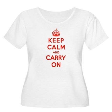 Keep Calm Women's Plus Size Scoop Neck T-Shirt