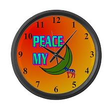 PEACE MY ASS! Large Wall Clock
