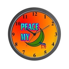 PEACE MY ASS! Wall Clock