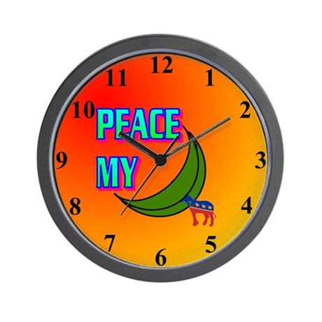 PEACE MY ASS! Wall Clock