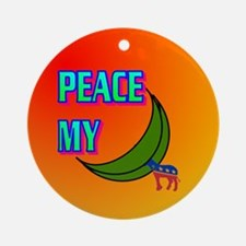 PEACE MY ASS! Ornament (Round)