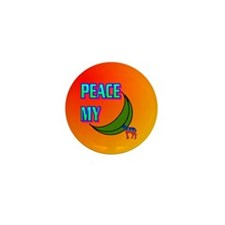 PEACE MY ASS! Mini Button