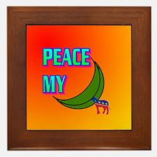 PEACE MY ASS! Framed Tile