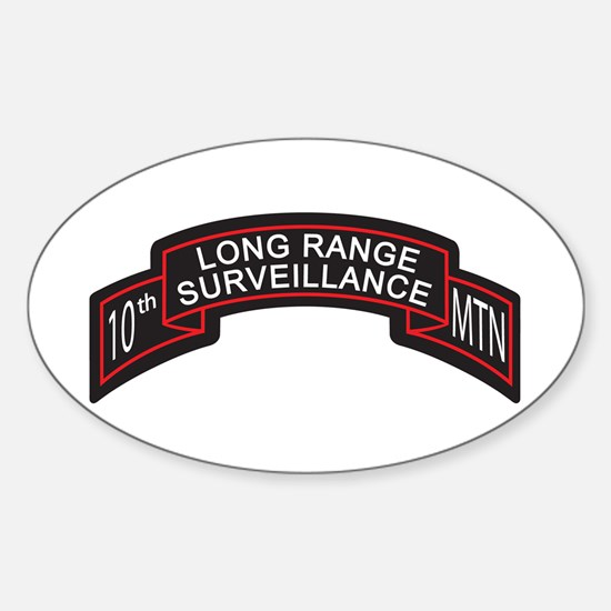 LRS 10th MTN Long Range Surve Oval Decal