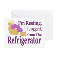 Jogged From Refrigerator Greeting Cards (Package o