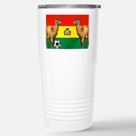 Bolivia Football Flag Travel Mug
