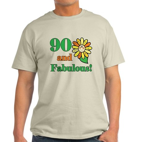 Fabulous 90th Birthday Light T-Shirt