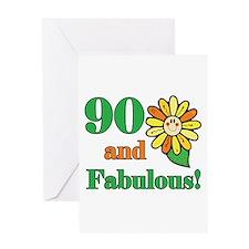 Fabulous 90th Birthday Greeting Card