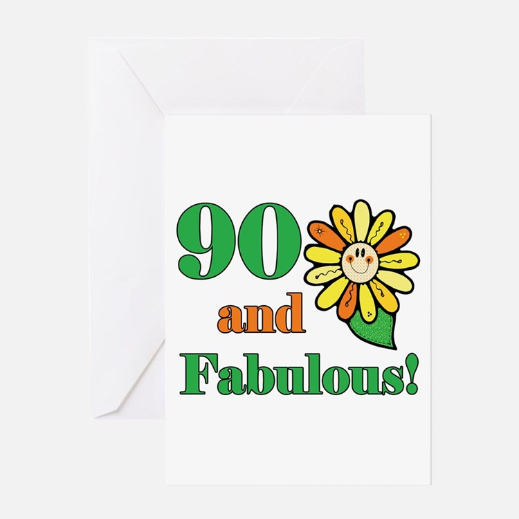 Fabulous 90th Birthday Greeting Card