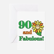 Fabulous 90th Birthday Greeting Cards (Pk of 20)