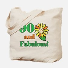 Fabulous 90th Birthday Tote Bag