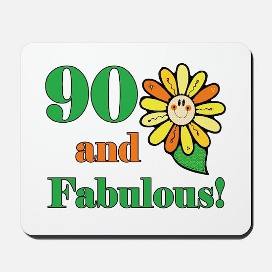 Fabulous 90th Birthday Mousepad