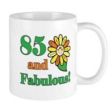 Fabulous 85th Birthday Small Mugs
