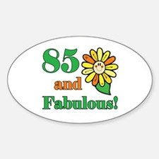Fabulous 85th Birthday Oval Decal