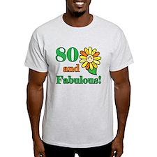 Fabulous 80th Birthday T-Shirt