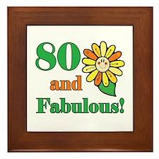 Fabulous 80th Birthday Framed Tile