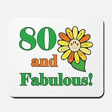 Fabulous 80th Birthday Mousepad