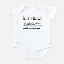 Unique Maid of honor Infant Bodysuit