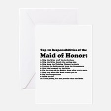 Cute Maid honor Greeting Card