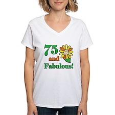 Fabulous 75th Birthday Shirt